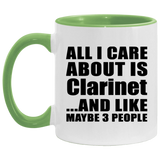 All I Care About Is Clarinet - 11oz Accent Mug Green