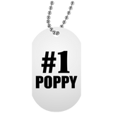 Number One #1 Poppy - Military Dog Tag