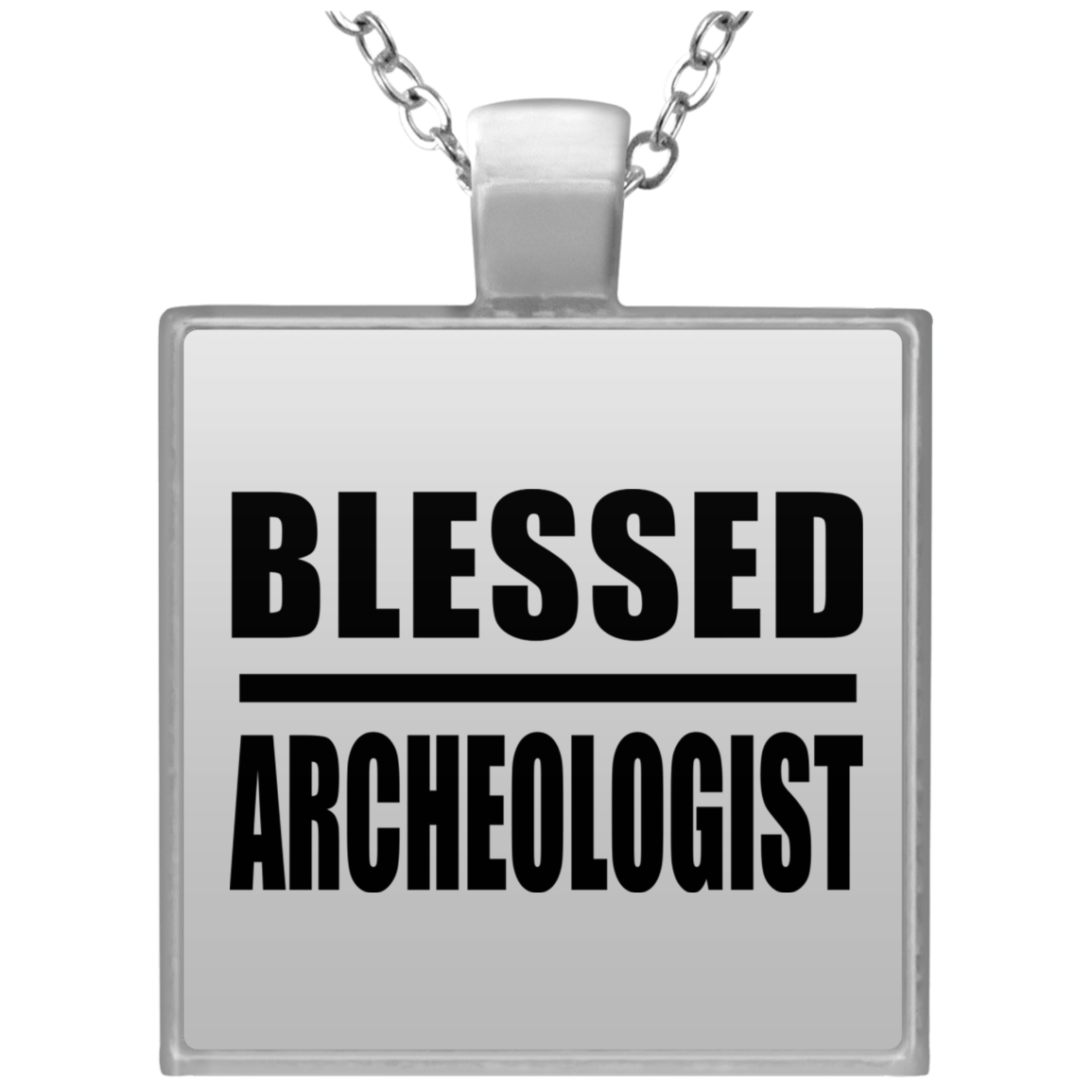 Blessed Archeologist - Square Necklace