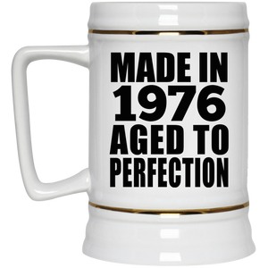 45th Birthday Made In 1976 Aged to Perfection - Beer Stein