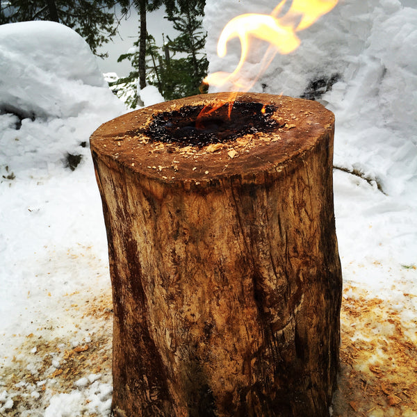 burning swedish torch