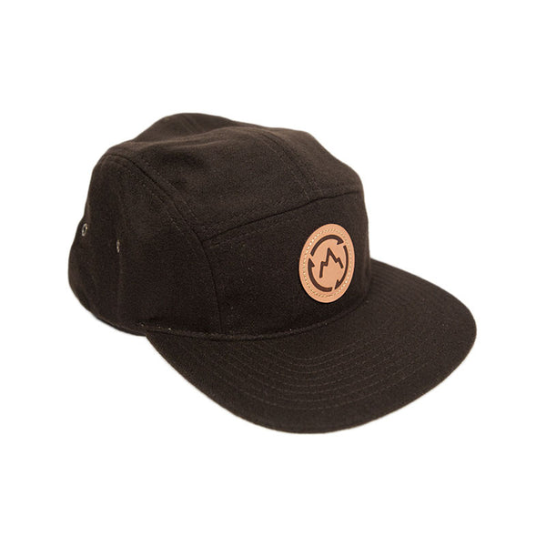 Brown Five Panel Camper Hat Front Detail - GetLostGear