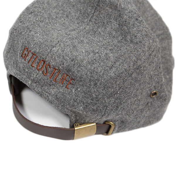 Grey Five Panel Camper Hat Back Detail - GetLostGear
