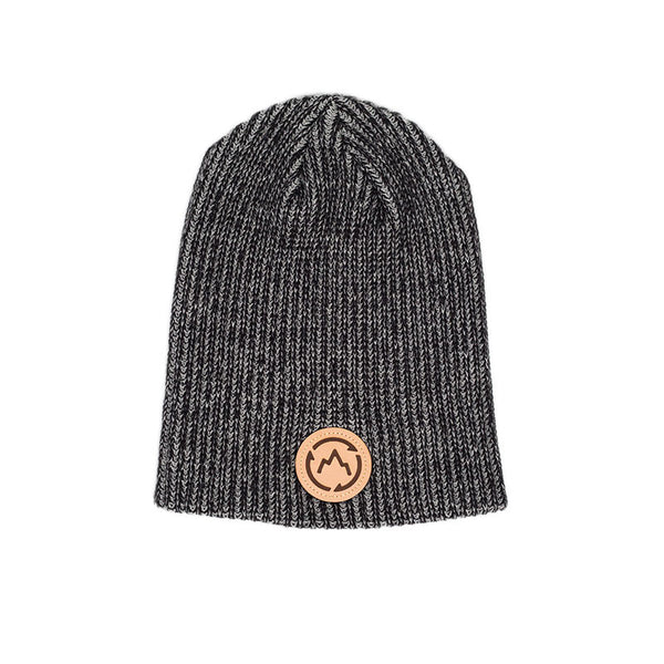 Heather Black Slouch Beanie - GetLostGear