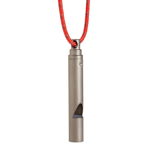 Vargo Titanium Whistle with Cord
