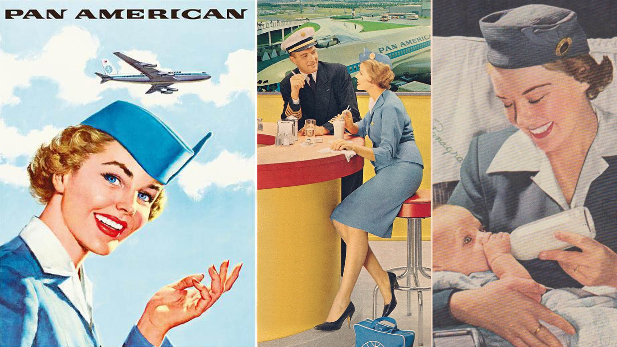 PAN AM retro ads for Joan Seed's blog post The Making of Cockpit Girl