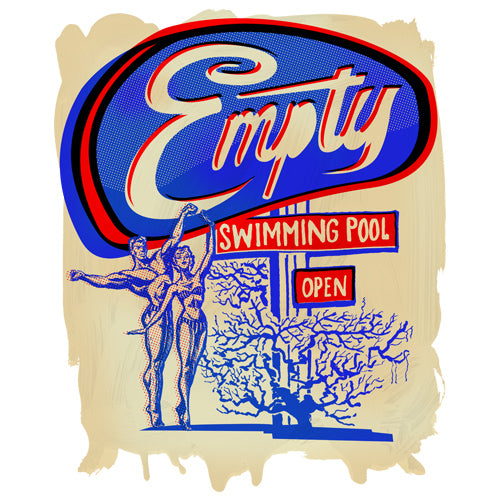 Empty Swimming Pool Artwork JOAN SEED My Wearable Attitude
