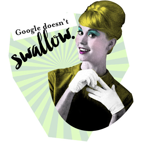 Google Doesn't Swallow Fortune Cookie Artwork JOAN SEED My Wearable Attitude