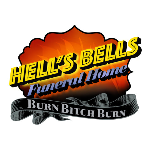 Hell's Bells Funeral Home Artwork JOAN SEED My Wearable Attitude