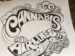 JOAN SEED cannabis airlines drawing