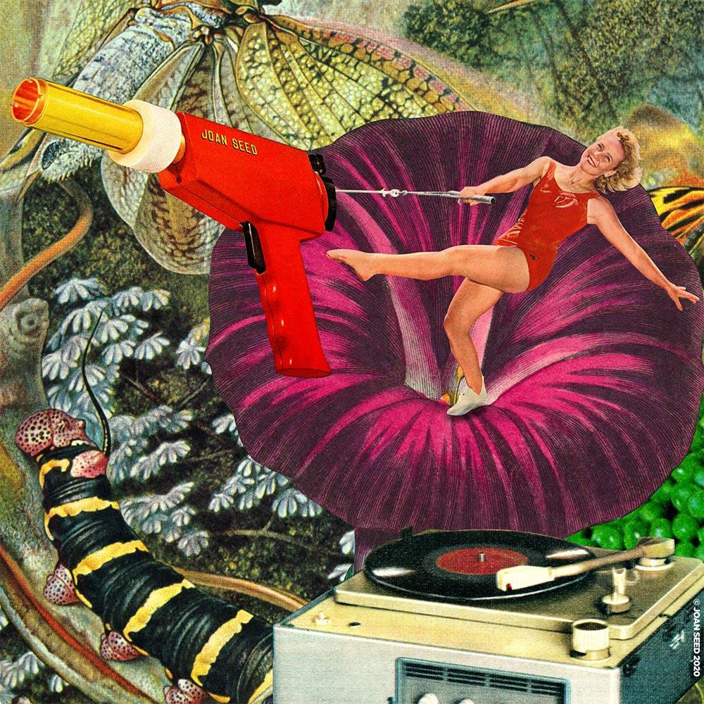 PHASER FAIRY retro collage artwork joan seed art gallery