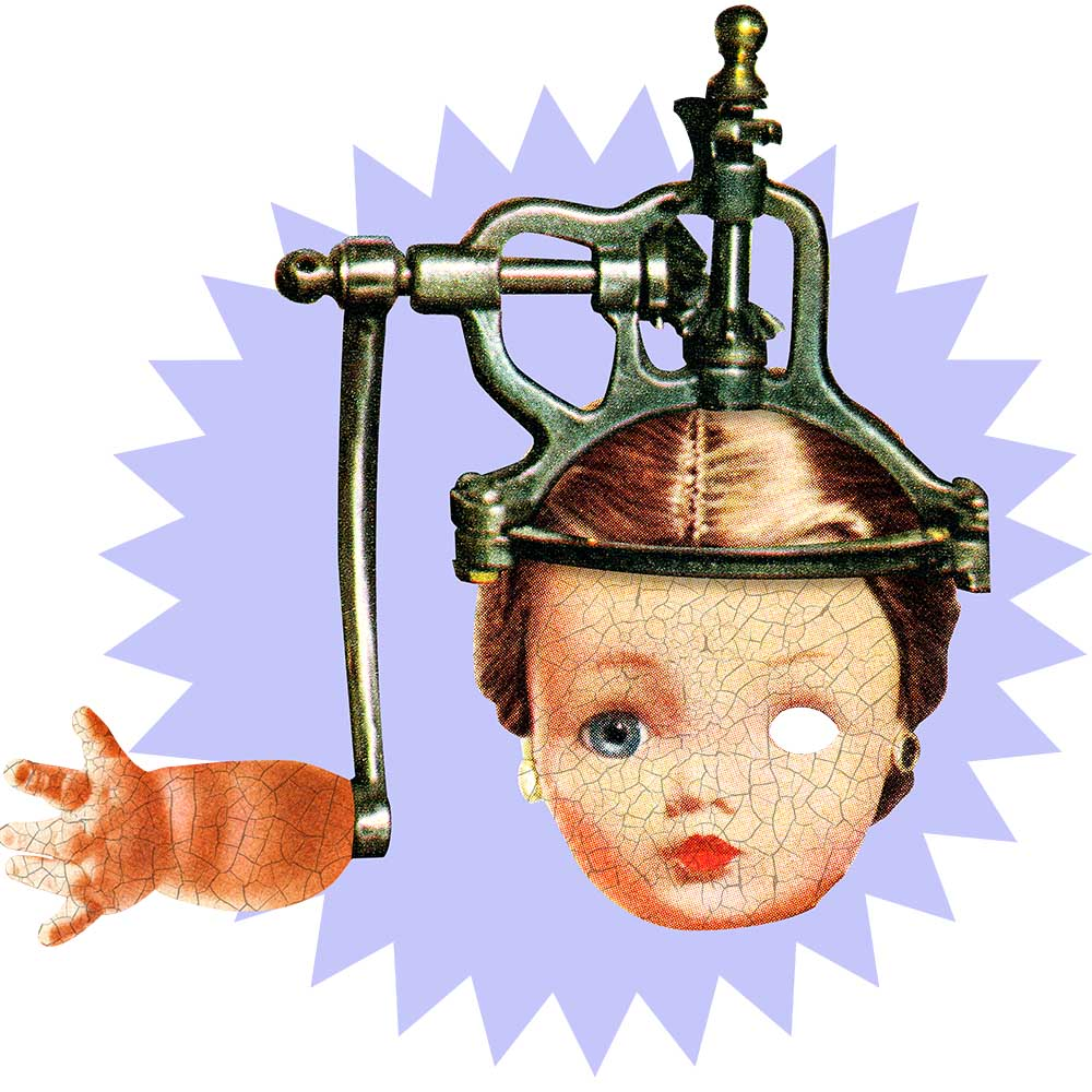 Mind Control Doll artwork joan seed  grows anywhere
