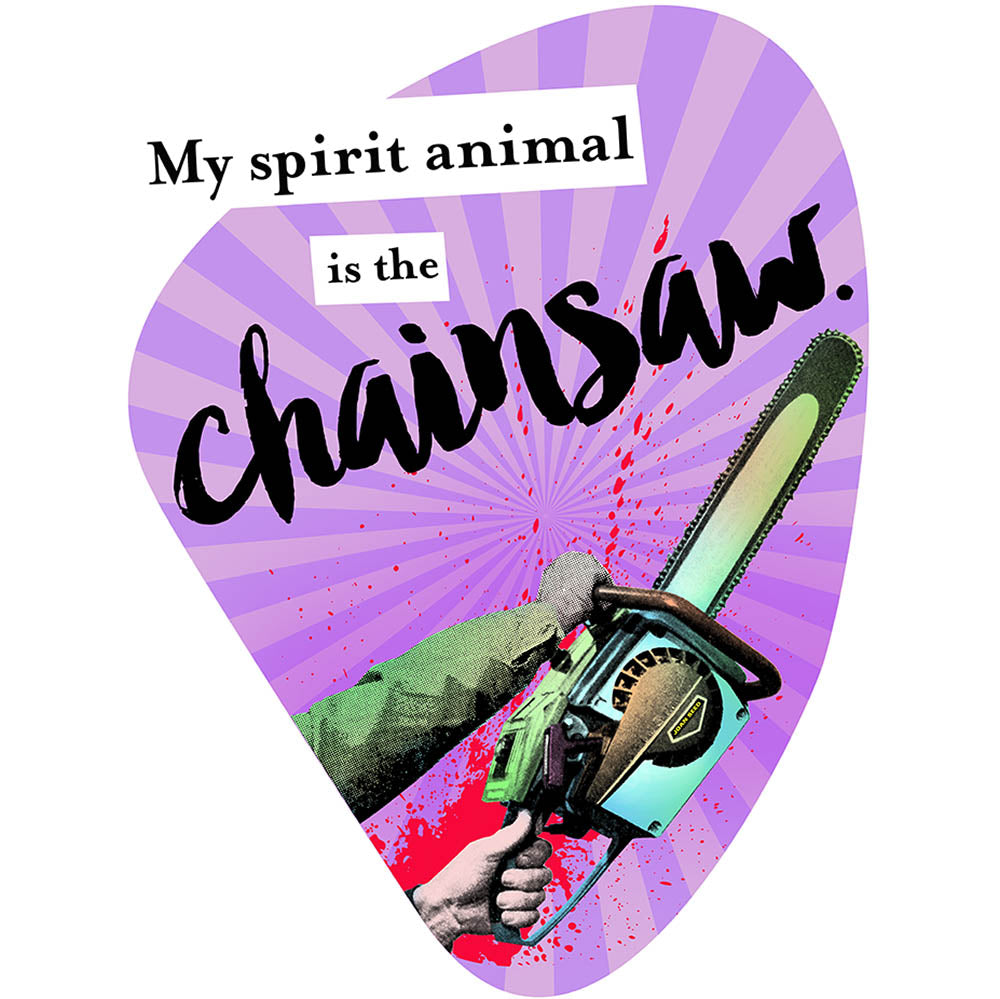 My Spirit Animal is the Chainsaw fortune cookie meme artwork joan seed art gallery