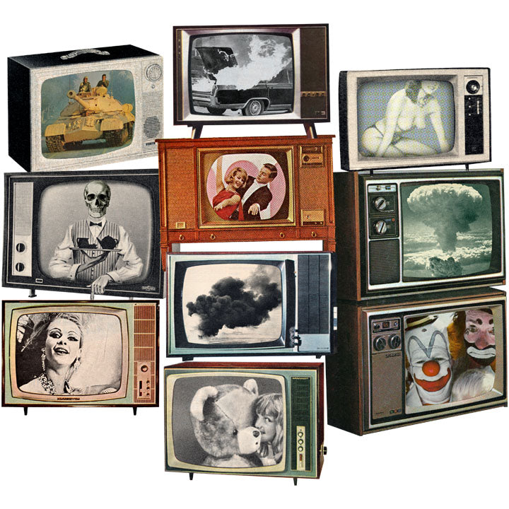 Television Fascinator retro collage JOAN SEED Grows Anywhere