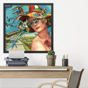 JOAN SEED Illustrations and Posters Roadtrip Fascinator Poster