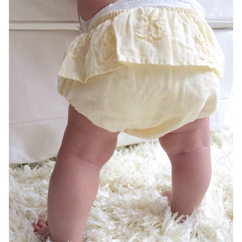 Tocoto Vintage - Embroidered Bloomer - BubbleChops - 1