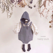 Baby Knit Romper (Grey), Monbebe - BubbleChops LLC