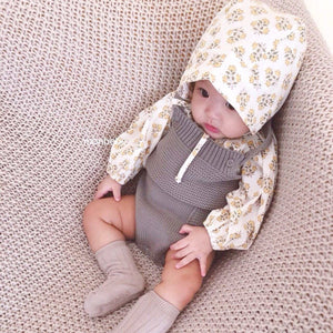 Baby Knit Romper (Cream), Monbebe - BubbleChops LLC