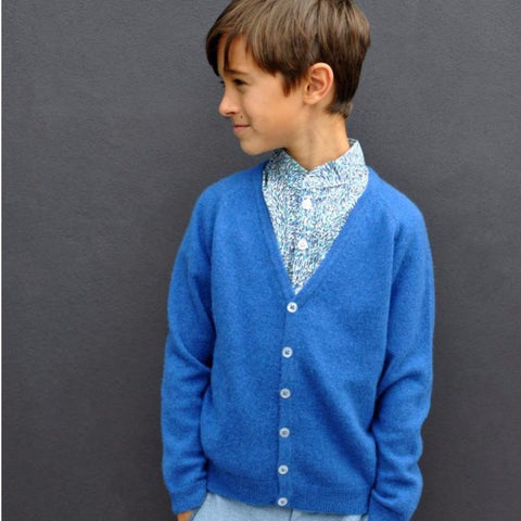 Olivier Baby & Kids - Blue Cashmere Cardigan with Small Star - BubbleChops - 5