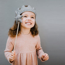Queen Mimi Super Soft Reversible Crown - Grey, Mimi and Lula - BubbleChops LLC
