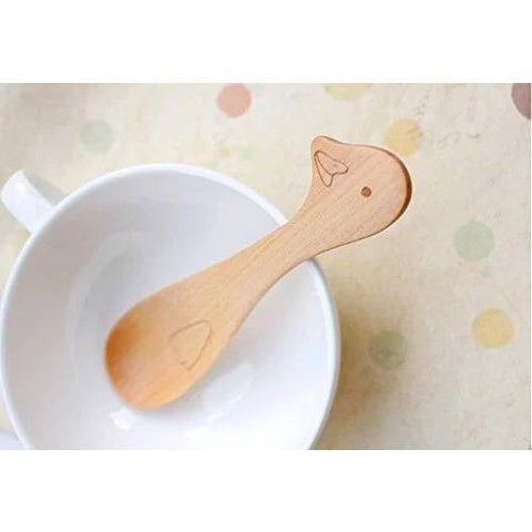 Wooden Baby & Toddler Spoon - Duck - BubbleChops - 1
