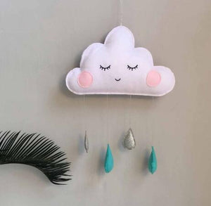 Cloud Decoration with raindrops
