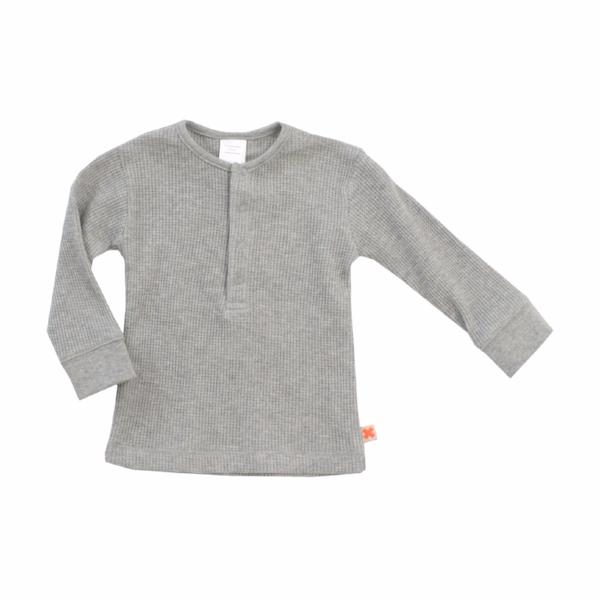Grey Ribbed T-shirt, Tinycottons - BubbleChops LLC
