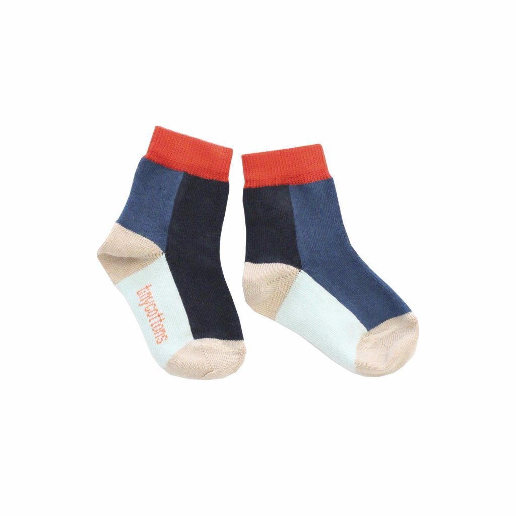 Colour Block Socks, Tinycottons - BubbleChops LLC