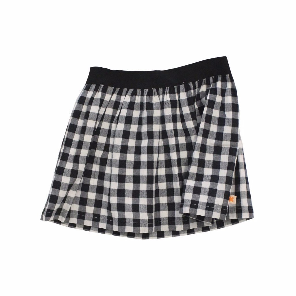 Black & White Check Skirt, Tinycottons - BubbleChops LLC
