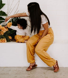 Mommy Joggers in Golden Sunshine Yellow