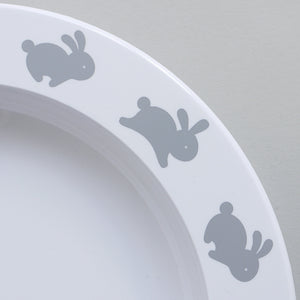 Hoppy Bunny Plate, Buddy and Bear - BubbleChops LLC