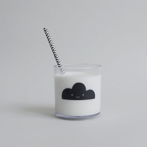 Buddy and Bear - Black Happy Clouds Tumbler - BubbleChops - 1