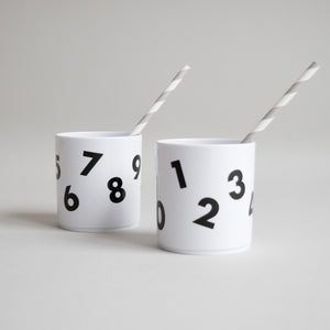 Numbers Cup in White, Buddy and Bear - BubbleChops LLC