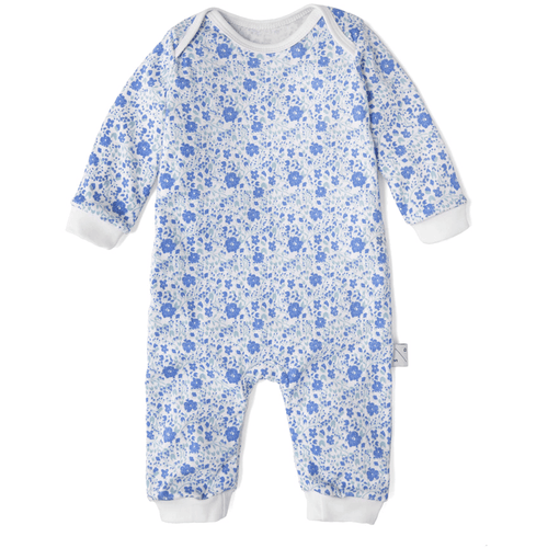 Dancing Floral Baby Romper, Sleepy Doe - BubbleChops LLC