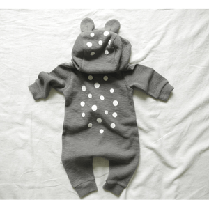 Bambi Jumpsuit in Grey, Lala - BubbleChops LLC