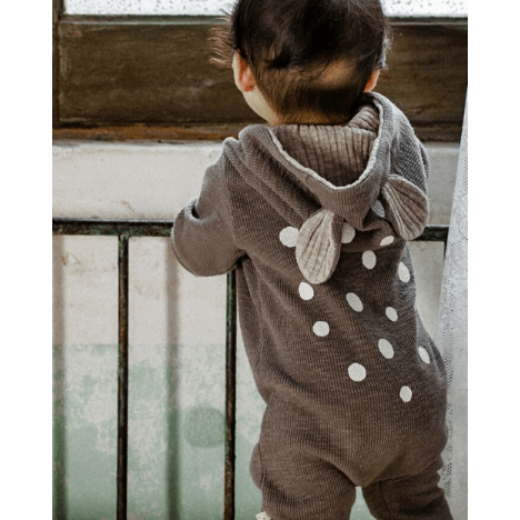 Lala - Bambi Jumpsuit in Grey, Lala - BubbleChops LLC
