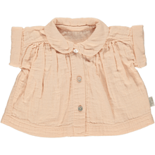 Round Collar Blouse in Appleblossom (Organic Cotton), Poudre Organic - BubbleChops LLC