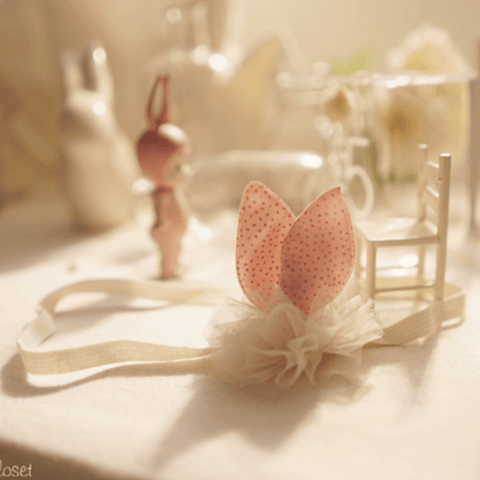 Arim Closet - Little Bunny Ears Headband (Pink)