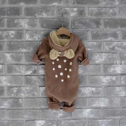 Lala - Bambi Winter Jumpsuit in Camel, Lala - BubbleChops LLC