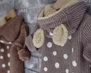 Bambi Winter Jumpsuit in Camel, Lala - BubbleChops LLC