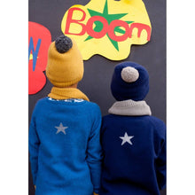 Blue Cashmere Cardigan with Small Star, Olivier Baby & Kids - BubbleChops LLC