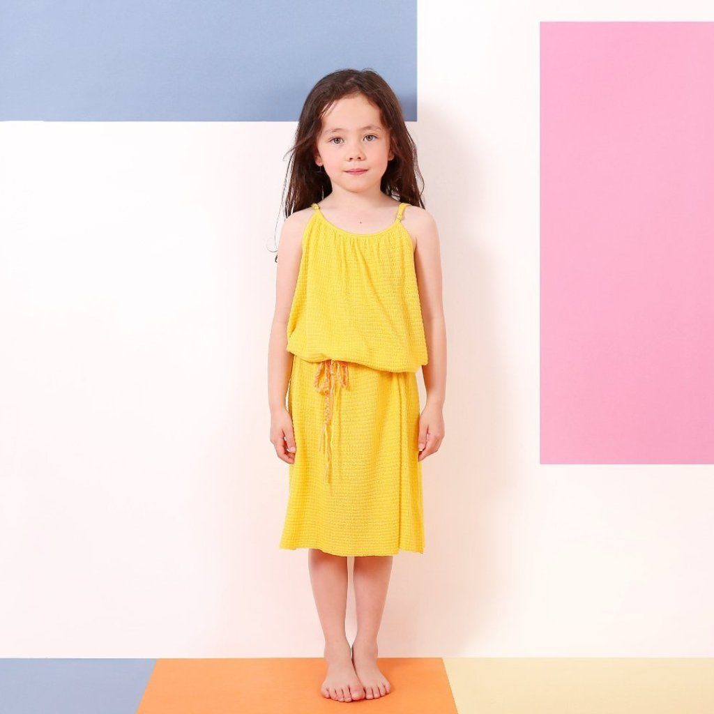Daydream Dress (Yellow), Knit Planet - BubbleChops LLC
