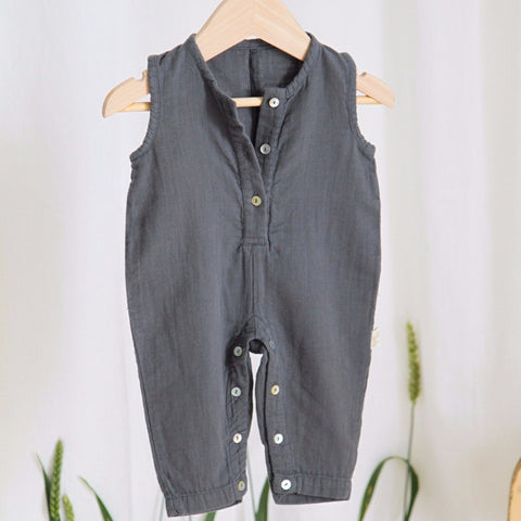 Poudre Organic - Baby Overalls in Iron Gate