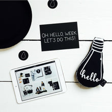 Hello Bulb Cushion, Bulb London - BubbleChops LLC
