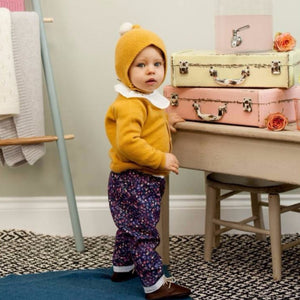 Mustard Cashmere Cardigan with Star, Olivier Baby & Kids - BubbleChops LLC