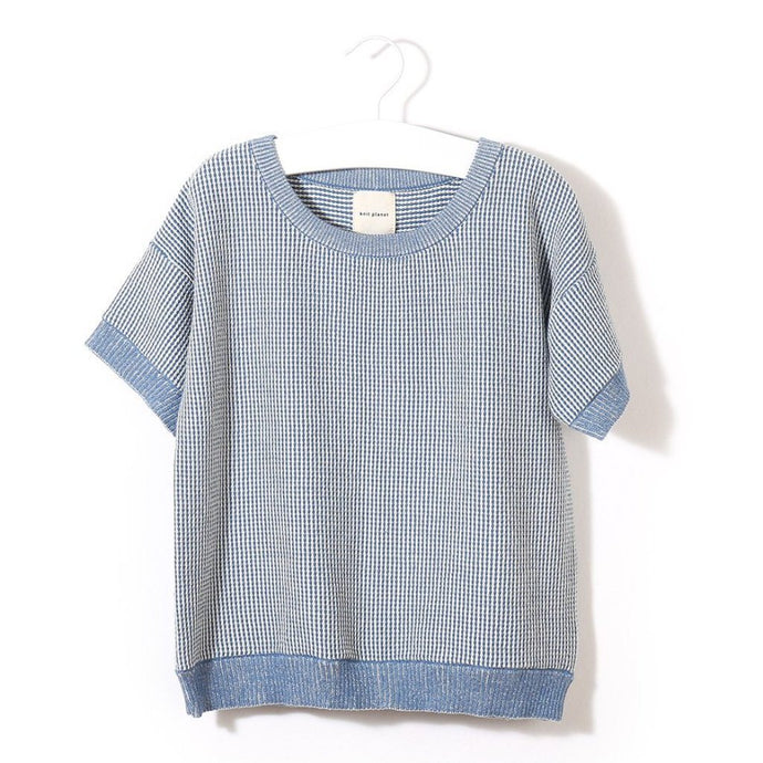 Organic Cotton Sunshine T-Shirt (Blue/White), Knit Planet - BubbleChops LLC