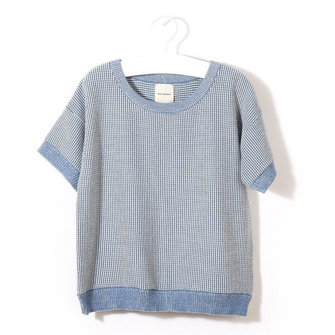 Knit Planet - Organic Cotton Sunshine T-Shirt (Blue/White), Knit Planet - BubbleChops LLC