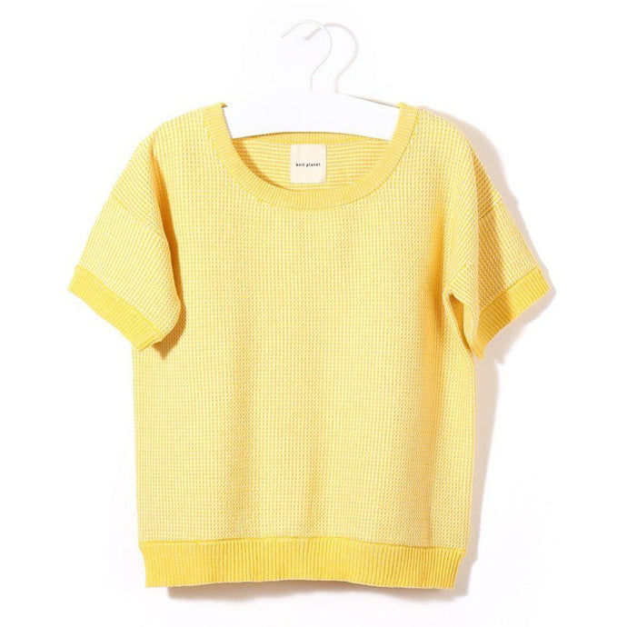 Organic Cotton Sunshine T-Shirt (Yellow/White), Knit Planet - BubbleChops LLC