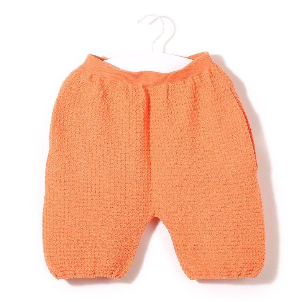 Organic Cotton Waffle Capri Shorts (Peach), Knit Planet - BubbleChops LLC