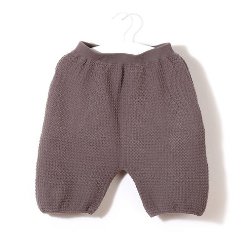 Knit Planet - Organic Cotton Waffle Capri Shorts (Choco), Knit Planet - BubbleChops LLC